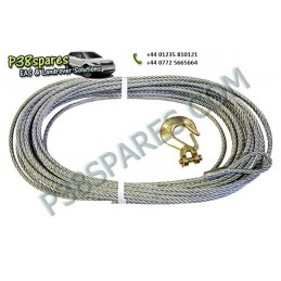Replacement Galvanised Winch Cable With Hook - Winching - All Models - supplied by p38spares with, all, replacement, models, -