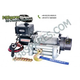 Britpart 9000 Lbs 3.3 Kw Pulling Power Winch - Steel Cable - 12 Volt - All Models - supplied by p38spares all, britpart, steel