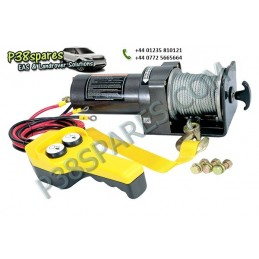 Britpart 2000 Lbs 1.0 Kw Pulling Power Winch - Steel Cable - 12 Volt - All Models