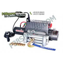 Britpart 12000 Lbs 3.6 Kw Pulling Power Winch - Steel Cable - 12 Volt - All Models