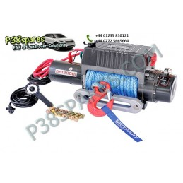 Britpart 12000 Lbs 3.6 Kw Pulling Power Winch - Dyneema Rope - 12 Volt - All Models - supplied by p38spares all, britpart, mod