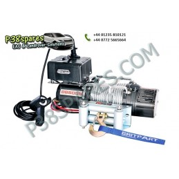 Britpart 6000 Lbs 2.7 Kw Pulling Power Winch - Steel Cable - 12 Volt - All Models