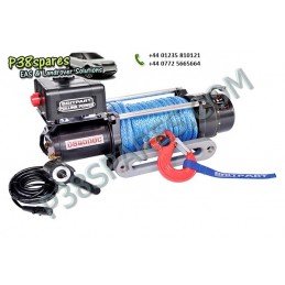 Britpart 9000 Lbs 3.3 Kw Pulling Power Winch - Dyneema Rope - 12 Volt - All Models - supplied by p38spares all, britpart, mode