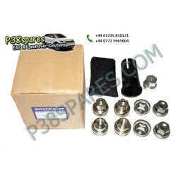 Locking Wheel Nuts & Key Kit - Wheels - Range Rover P38 Models - supplied by p38spares kit, rover, range, wheel, p38, key, loc