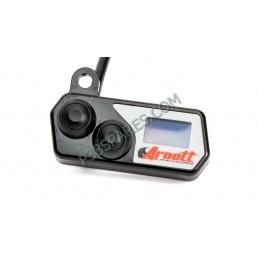 Handlebar-Mounted Push Button Controller w/LED Pressure Gauge (Black)