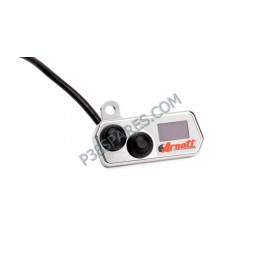 Handlebar-Mounted Push Button Controller wiht LED Pressure Gauge (chrome)