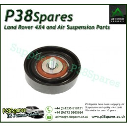 Genuine Range Rover P38 Drive Belt Idler Pulley 80 mm - Timing Tensioner - V8 Petrol 1999-2002 With Air Conditioning