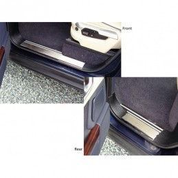 Lower Sill Step Covers Brushed Finish Range Rover L322 Models 2002 - 2012 - Britpart Air suspension Lower Sill Step Covers