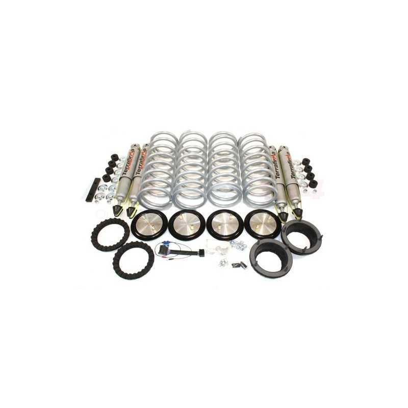 "Range Rover P38 MKII Full Set of Terrafirma All Terrain Shock Absorbers +1"" Lift & Heavy Duty Coil Conversion Kit 1994 - 2002"