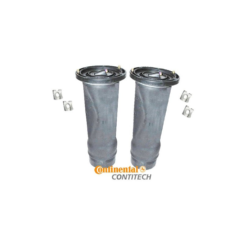 ContiTech Pair Rear Discovery 2 OEM Air Suspension Springs & Clips 1998-2004 - supplied by p38spares air, rear, spring, bellow