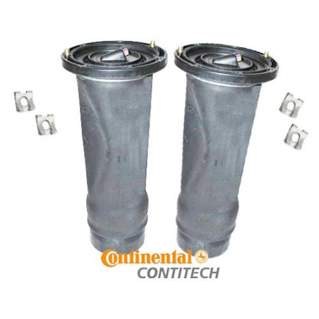 ContiTech Pair Rear Discovery 2 OEM Air Suspension Springs & Clips 1998-2004