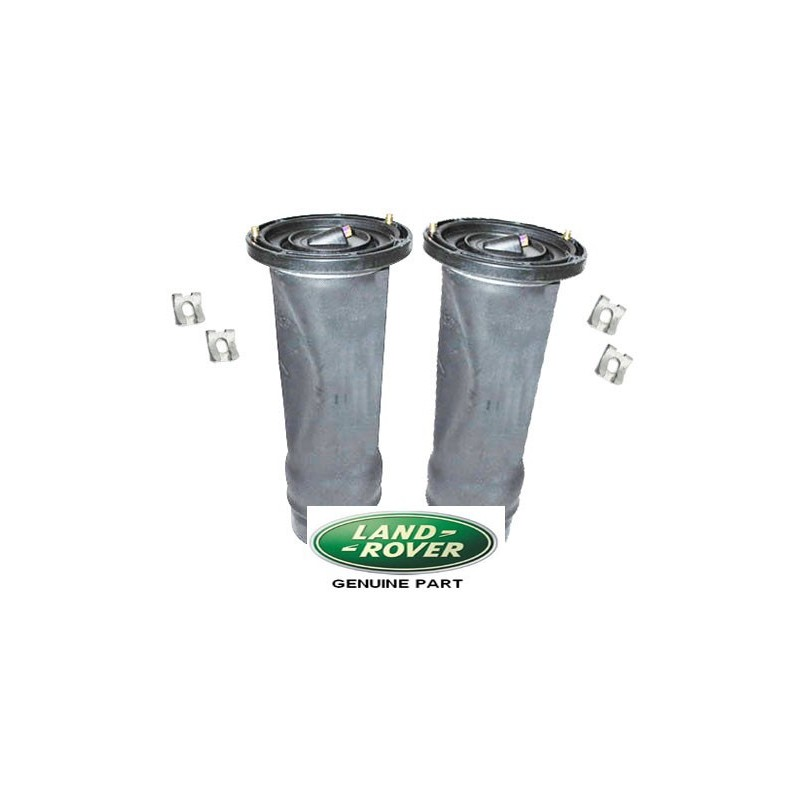 Pair Rear Discovery 2 Genuine Land Rover Air Suspension Springs & Clips Fits Left & Right 1998-2004 www.p38spares.com  3130 - RK