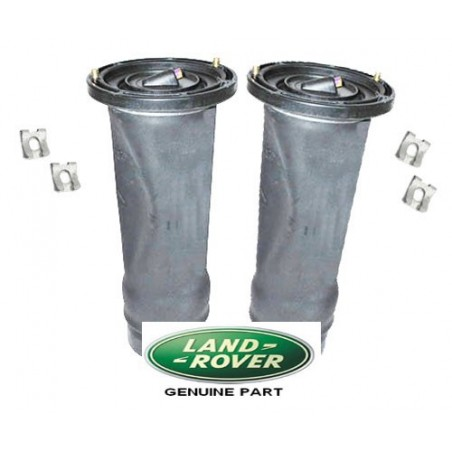Pair Rear Discovery 2 Genuine Land Rover Air Suspension Springs & Clips Fits Left & Right 1998-2004