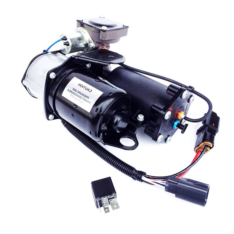 Dunlop Replacement For Hitachi EAS Range Rover Sport & Discovery 3 Air Suspension Compressor with Relay 2005-2009 www.p38spares.