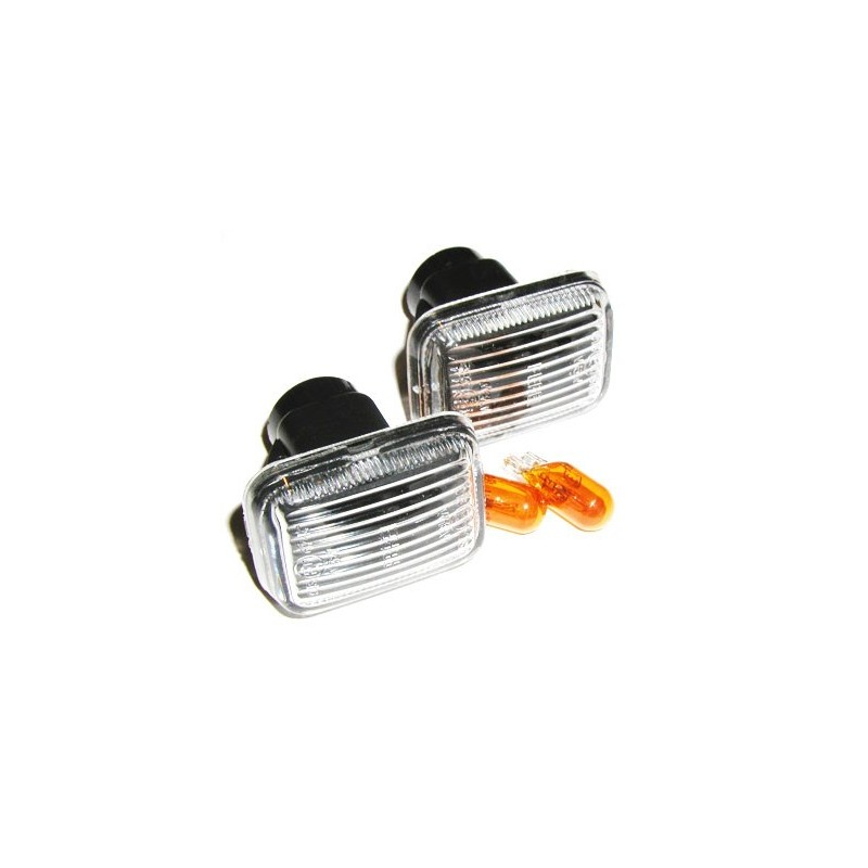 Clear Side Indicators & Amber Bulbs Range Rover P38 MKII Fits Left & Right 1995 - 2002