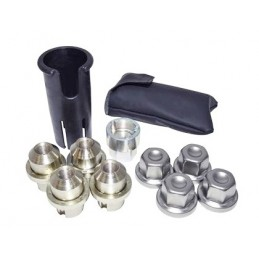 Range Rover P38 MKII 4.0, 4.6, 2.5TD  OEM Alloy Wheel Nut, Dust Cover, Key & Removal Tool Kit 1995-2002