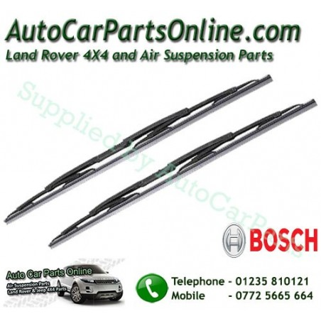 Pair Bosch Front Range Rover L322 MKIII Replacement Windscreen Wiper Blades All Models 2002-2012