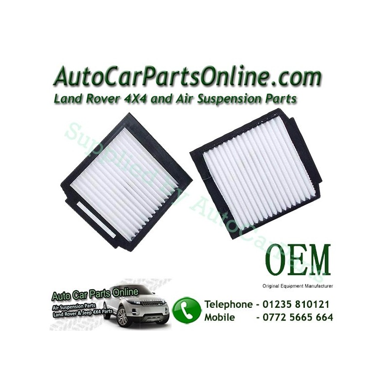 Pair OEM Range Rover P38 MKII Pollen Particle & Odour Filters All Models 1995-2002 www.p38spares.com  3188 - BTR8037 G - LR03021