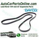 Dayco Range Rover P38 MKII Thor Engine Serpentine Drive Belt with Air Conditioning 1999-2002 www.p38spares.com  3190 - PQS101480