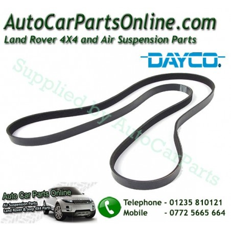 Dayco Range Rover P38 MKII Thor Engine Serpentine Drive Belt with Air Conditioning 1999-2002