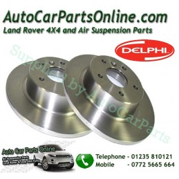 Delphi Pair Rear Land Rover Discovery 2 Solid Brake Discs 1995-2004 - supplied by p38spares