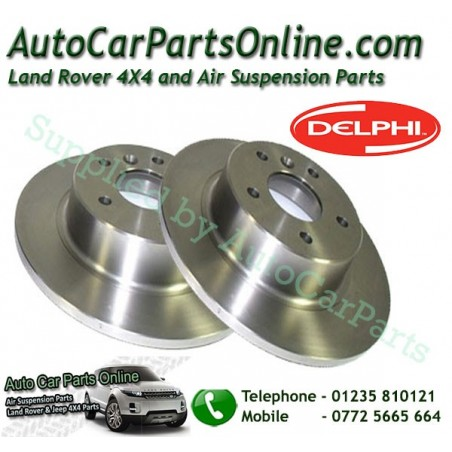 Delphi Pair Rear Land Rover Discovery 2  Solid Brake Discs 1995-2004