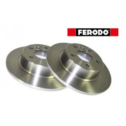 Ferodo Pair Rear Land Rover Discovery 2 Solid Brake Discs 1995-2004 - supplied by p38spares