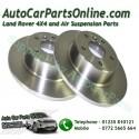 Pair Rear Range Rover P38 MKII Solid Brake Discs 1995-2002 www.p38spares.com  3192 - SDB000470
