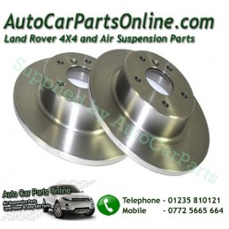Pair Rear Range Rover P38 MKII Solid Brake Discs 1995-2002