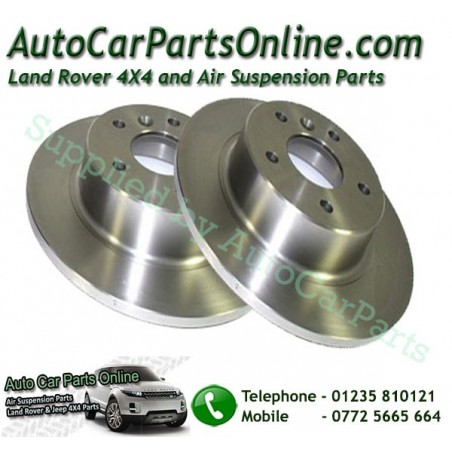 Pair Rear Range Rover P38 MKII Solid Brake Discs 1995-2002