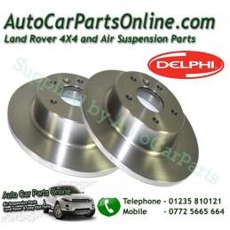 Delphi Pair Rear Range Rover P38 MKII 4.0 4.6 2.5TD Solid Brake Discs 1995-2002 www.p38spares.com  3195 - SDB000470 G (A) - AP (