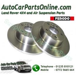Ferodo Pair Rear Range Rover P38 MKII 4.0 4.6 2.5TD Solid Brake Discs 1995-2002 www.p38spares.com  3194 - SDB000470 F (BRT)