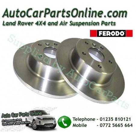 Ferodo Pair Rear Range Rover P38 MKII 4.0 4.6 2.5TD  Solid Brake Discs 1995-2002