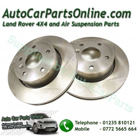 Pair Front Vented Brake Discs Range Rover P38 MKII All Models 1995-2002