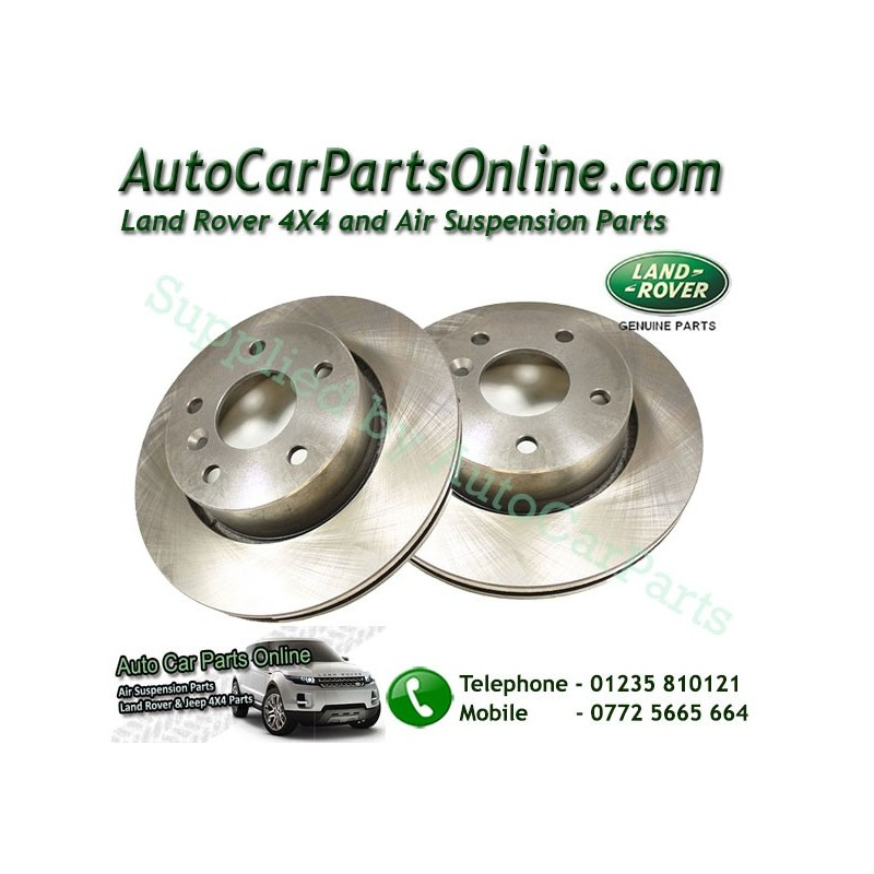 Pair Front Genuine Vented Brake Discs Range Rover P38 MKII All Models 1995-2002 www.p38spares.com  1134 - NTC8780 LR (Britpart)