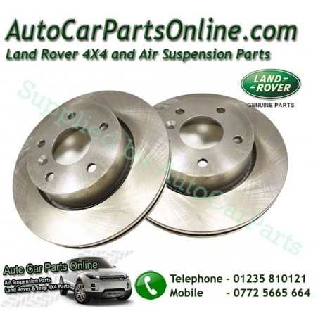 Pair Front Genuine Vented Brake Discs Range Rover P38 MKII All Models 1995-2002