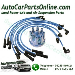 Blue 7mm HT Ignition Lead Set & Blue Distributor Cap Defender 90 110 V8 3.5 Petrol Models 1983-2006 www.p38spares.com  3210 - RT