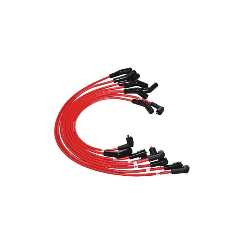 Red 7mm Defender 4.0 V8 Petrol HT Ignition Silicone Leads www.p38spares.com  1968 - DA4102 RED
