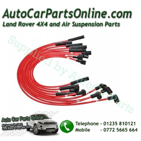 Red 7mm HT Ignition Lead Set Range Rover Classic V8 3.5 Carb & EFI Petrol Models 1986-1994