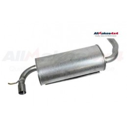 Rear Exhaust Silencer And Tail Pipe Assembly Freelander 1 - 1.8L - 4 Cylinder Petrol Models 1997-2000 www.p38spares.com rear, 4,