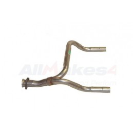 Front Y Piece Exhaust Assembly Range Rover Classic V8 (Not Catalyst) Models 1987-1989 www.p38spares.com front, assembly, v8, rov