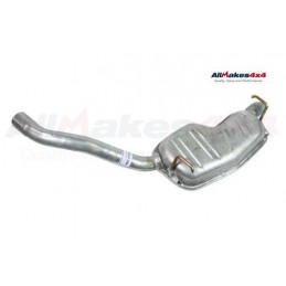 Left Hand Rear Silencer And Tail Pipe (Twin System) Range Rover P38 V8 & 2.5 BMW Diesel 1997-2002 www.p38spares.com rear, bmw, l