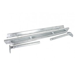 Defender 90 Rock Sliders With Tree Bars (Galvanised) - All Models www.p38spares.com with, all, defender, models, -, 90, Bars, Ro