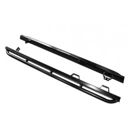 Defender 110 Rock Sliders With Tree Bars (Black Powder Coated) - All Models www.p38spares.com with, all, defender, models, -, 11