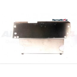 Defender Alloy Fuel Tank Guard (Defender 90) - All Models - supplied by p38spares all, defender, tank, models, -, (Defender, 9