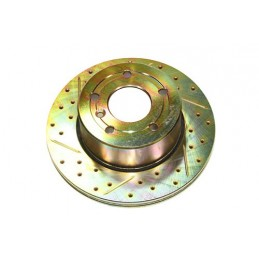 Terrafirma Vented Front Cross Drilled And Groved Brake Disc (Discovery 2) - All Models - supplied by p38spares front, all, and