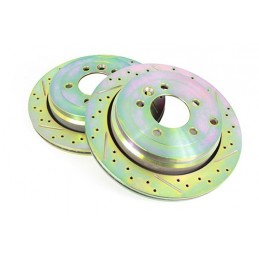 Terrafirma Vented Rear Cross Drilled And Groved Brake Disc (Discovery 3 Tdv6 And 4.0P & D4 Tdv6 And 5.0P) - All Models - suppl