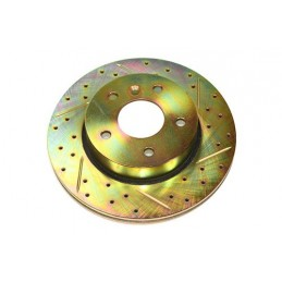 Terrafirma Vented Front Cross Drilled And Groved Brake Disc (Range Rover P38A) - All Models - supplied by p38spares front, rov