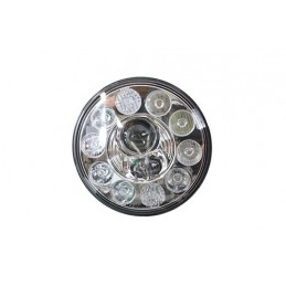 "Terrafirma 7"" Led Headlight Left Hand Drive - All Models - supplied by p38spares 7, all, inch, terrafirma, models, -, Led, Hea"
