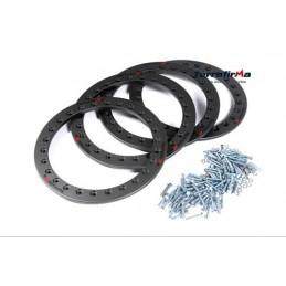 Terrafirma Alloy Bead Lock Kit (4 Wheels - Anthricite) - All Models - supplied by p38spares kit, all, wheels, terrafirma, mode